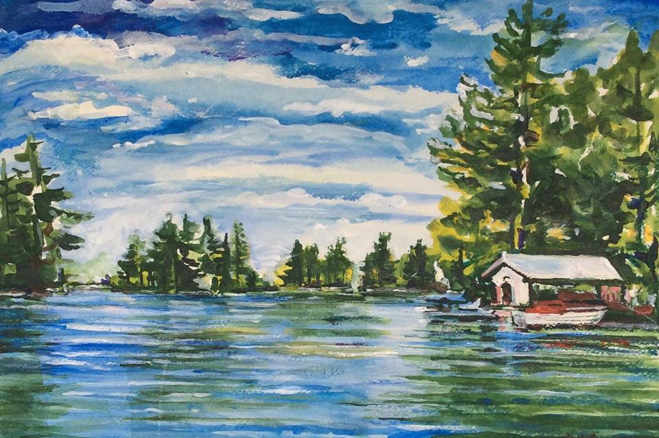 River View with Boathouse