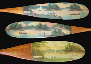 Keech, Alpheus E. Paddle Painter, Clayton and Omar,NY. 1855-1926