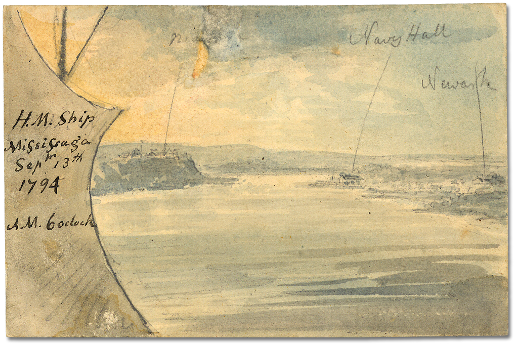 His_Majesty's_Ship_Mississauga,_with_Niagara,_Navy_Hall,_and_Newark
