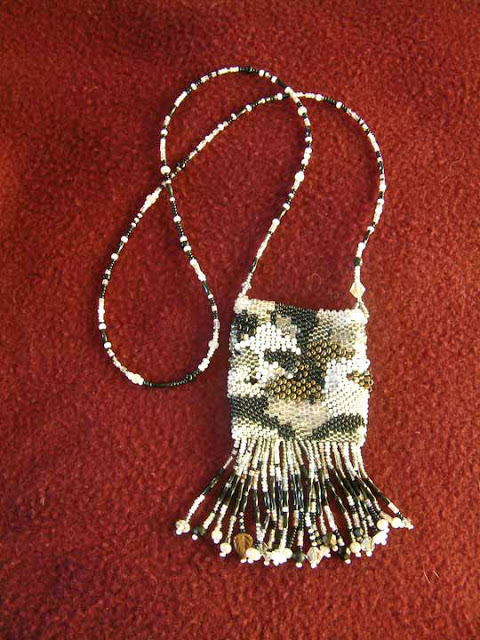 Free Form Peyote Amulet Bag